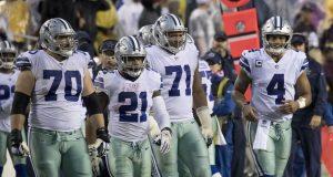 Zeke con la linea ofensiva