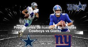 Predicciones Cowboys vs Giants